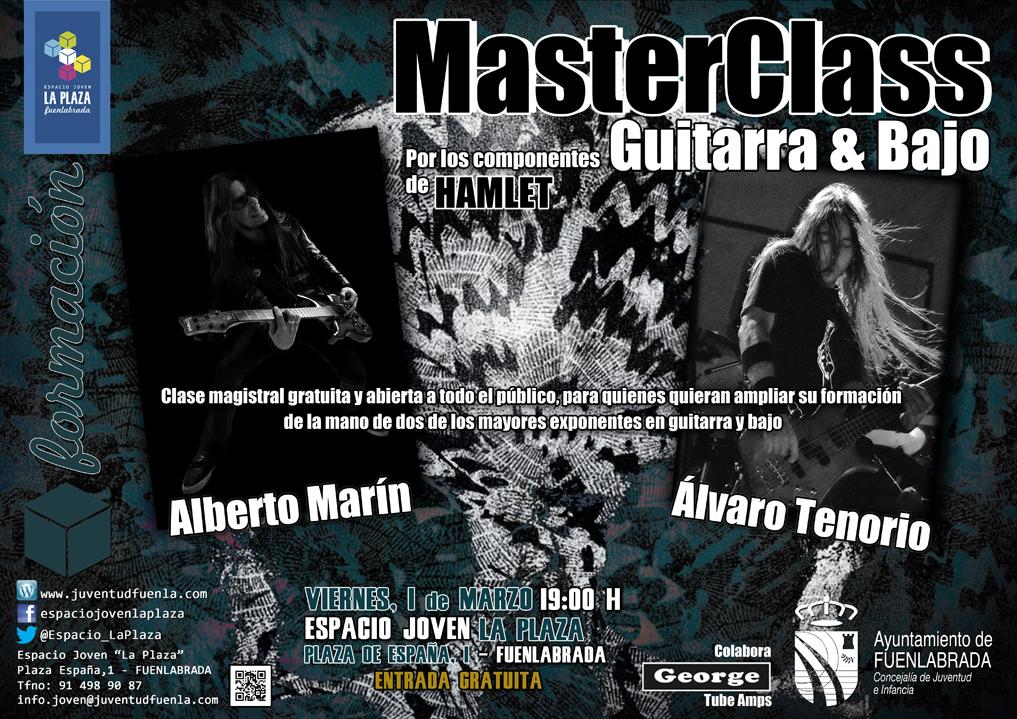 MasterClass de guitarra y bajo por los componentes de HAMLET: Alberto Marín y Álvaro Tenorio