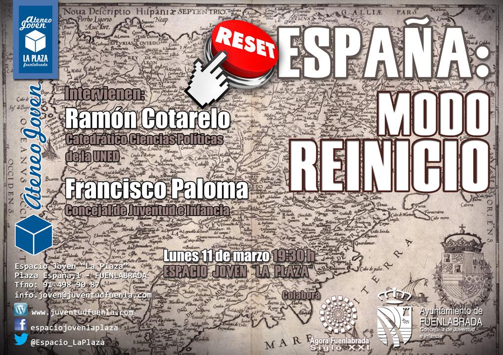 """Ateneo Joven en el Espacio Joven """"La Plaza"""". España: modo reinicio."""