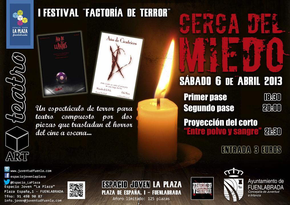 """1º Festival Factoría de Terror: """"Cerca del Miedo"""", en el Espacio Joven `La Plaza´"""
