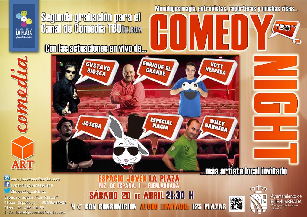 """""""Comedy Night"""" - Segunda grabación para el canal de comedia TBOtv.com, en el Espacio Joven """"La Plaza"""""""