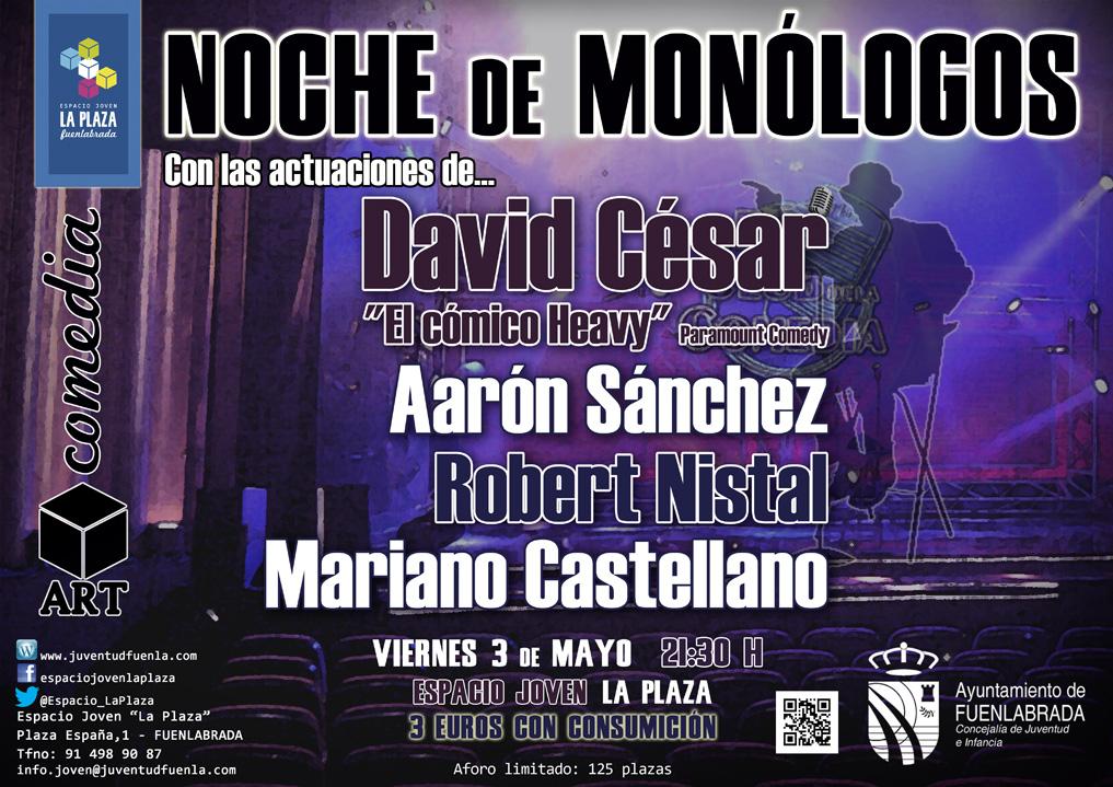 """""""Noche de Monólogos"""" en el Espacio Joven `La Plaza´"""