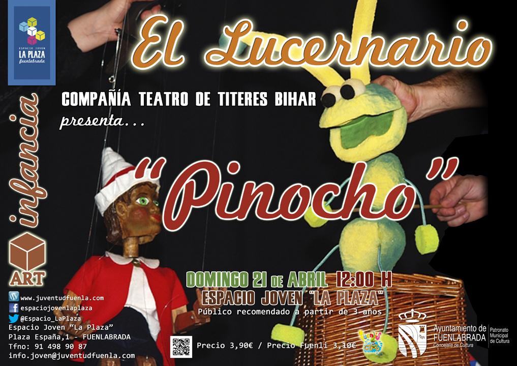 """La Compañía de Teatro de Títeres """"Bihar"""" presenta... Pinocho, en el Espacio Joven """"La Plaza"""""""