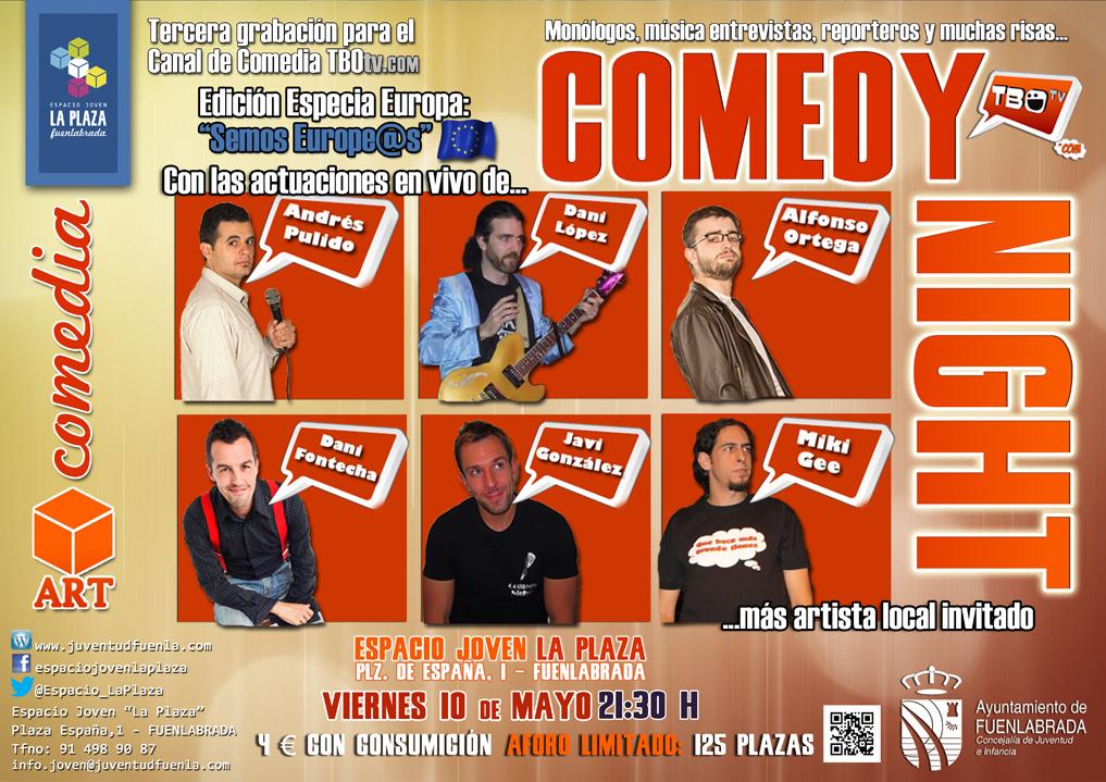"""Comedy Night Especia Europa: """"semos Europe@s"""", en el Espacio Joven `La Plaza´"""