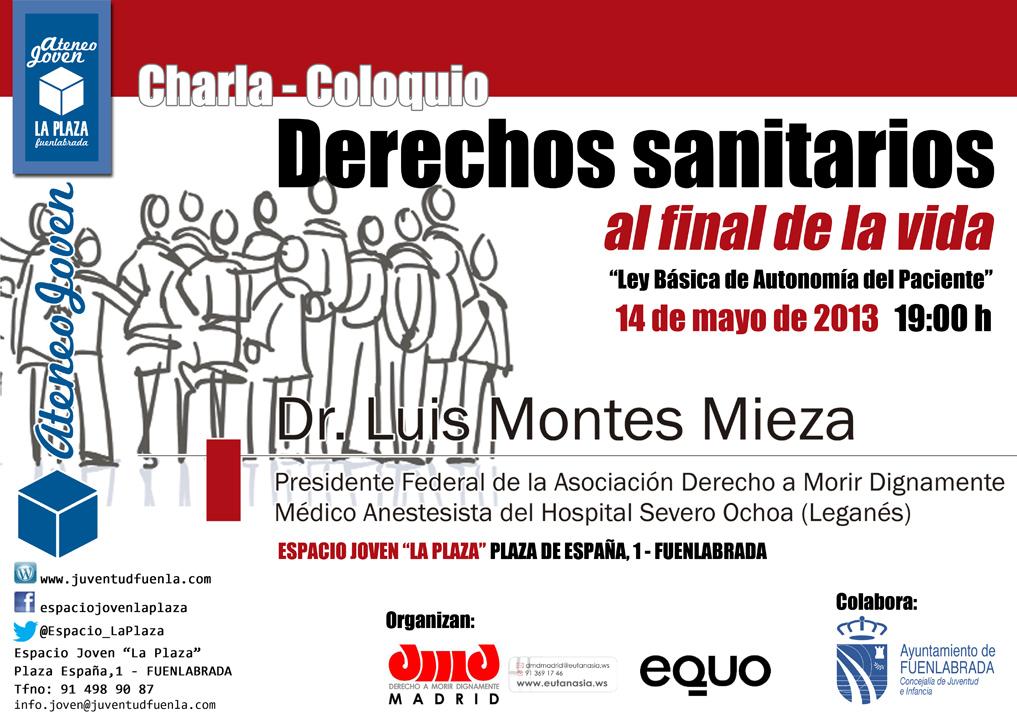 """Ateneo Joven: """"Derechos sanitarios al final de la vida"""", con el Dr. Luis Montes Mieza. En el Espacio Joven """"La Plaza"""" de Fuenlabrada."""