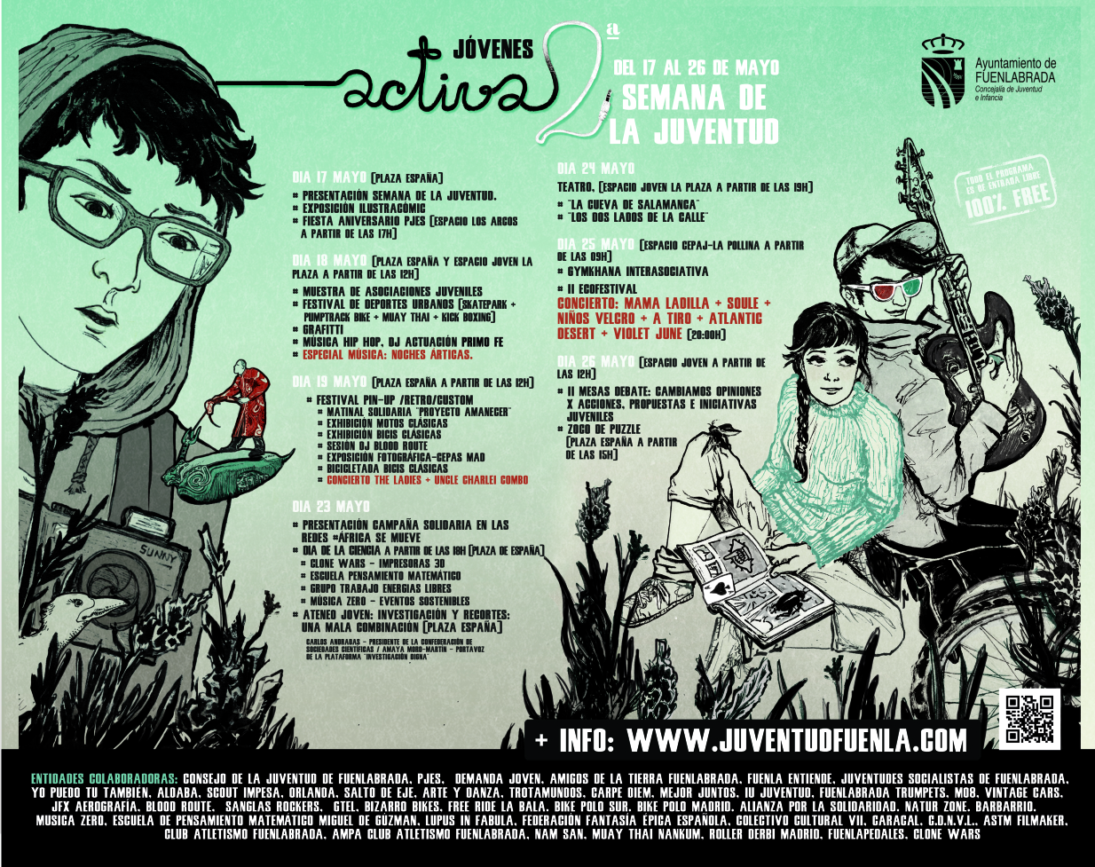 "2ª Semana de la Juventud ""Jóvenes Activa2"" - Cartel Juan"