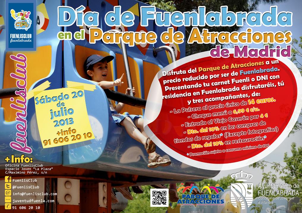 Disfruta del Parque de Atracciones de Madrid a un precio reducido por ser de Fuenlabrada.