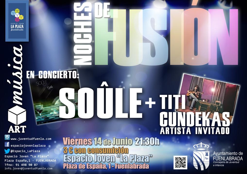 """La banda Soûle y el artista invitado, Titi Cundekas, estrenan las """"Noches de Fusión"""" en el Espacio Joven """"La Plaza"""" de Fuenlabrada"""
