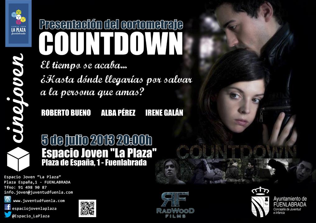 """Presentación del NUEVO cortometraje de RadWood FILMS: """"COUNTDOWN"""", en el Espacio Joven `La Plaza'"""