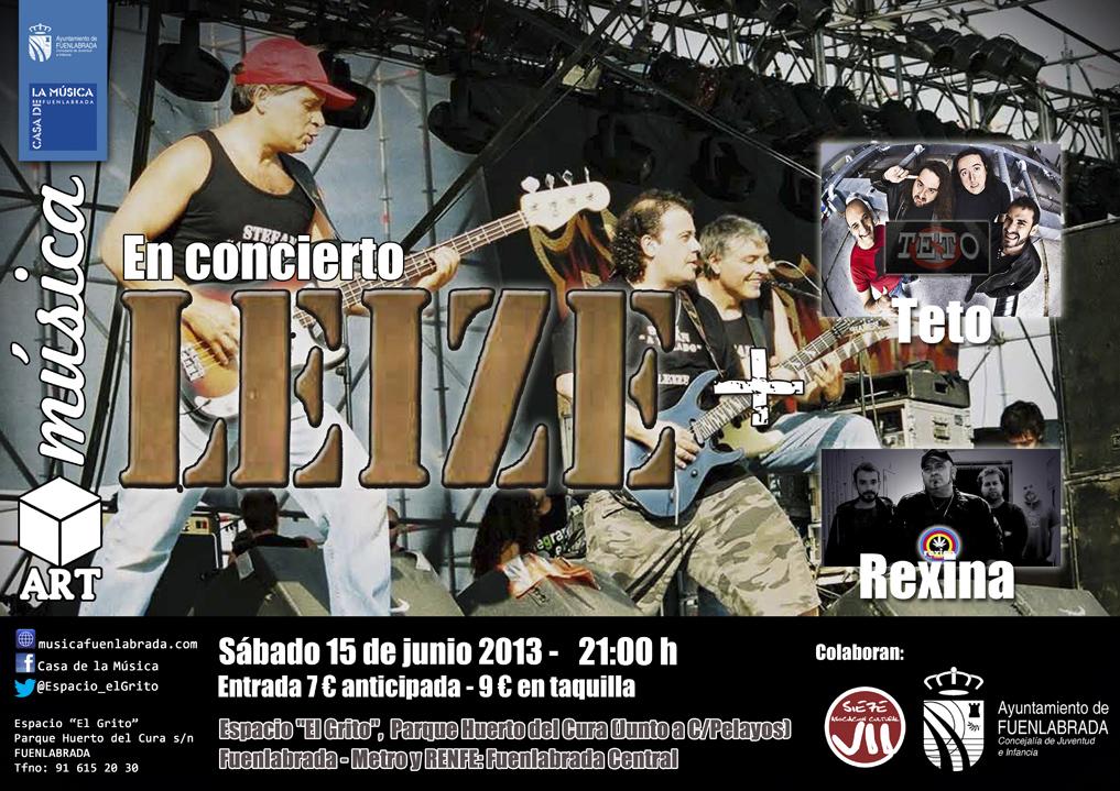 """Leize+Teto+Rexina en concierto en el Espacio """"El Grito"""""""