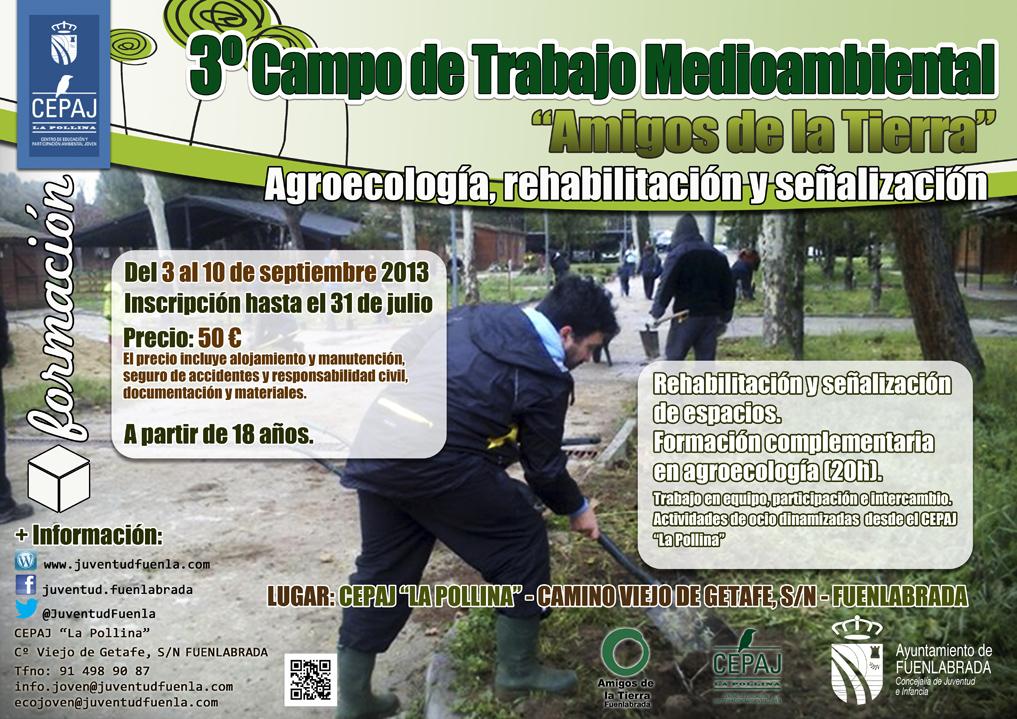 """3º Campo de Tabajo Medioambiental en el CEPAJ """"La Pollina"""""""