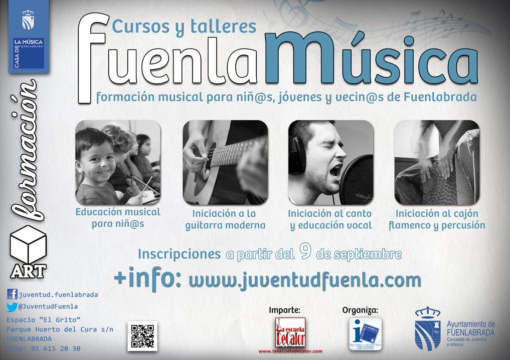 Talleres musicales para niños/as, jóvenes y vecinos/as de Fuenlabrada