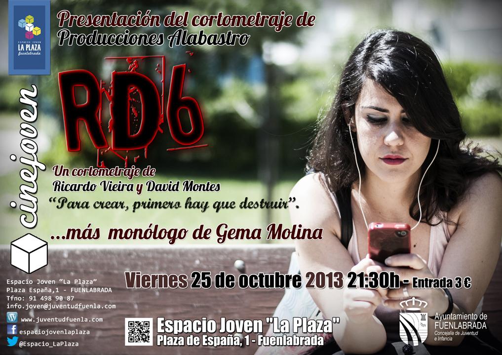 """Presentación del cortometraje """"RD6"""". En el Espacio Joven """"La Plaza"""""""