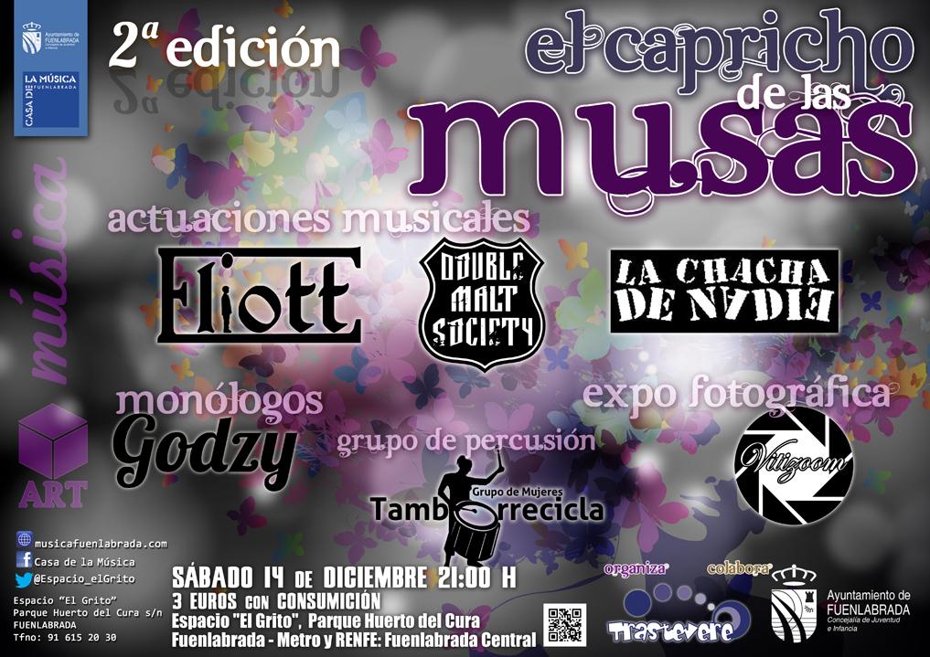 """Nueva edición de """"El Capricho de las Musas"""", en el Espacio """"El Grito"""" de la Casa de la Música de Fuenlabrada."""