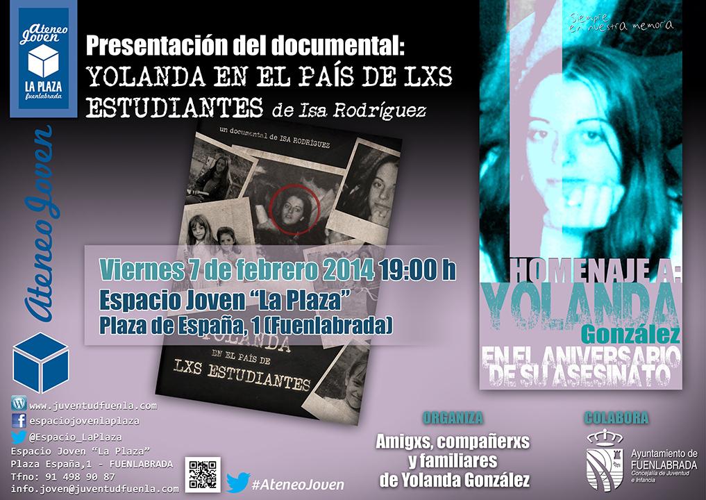 """Presentación del documental """"Yolanda en el país de los estudiantes"""", de Isa Rodríguez. En el Espacio Joven """"La Plaza"""""""