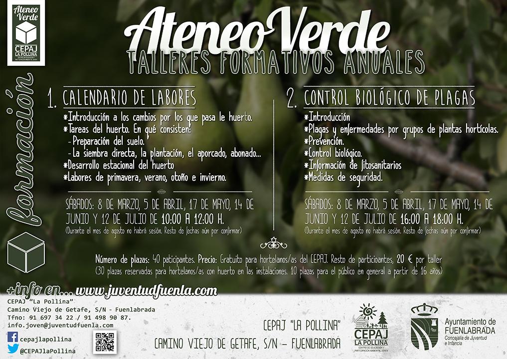 """Talleres anuales del Ateneo Verde en el CEPAJ """"La Pollina"""""""