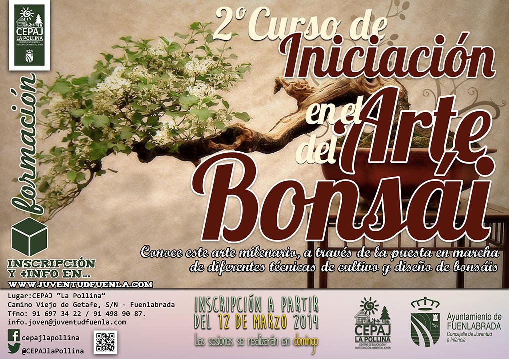 """2º curso de iniciciación en el arte del bonsái. Los domingos en el CEPAJ """"La Pollina"""""""