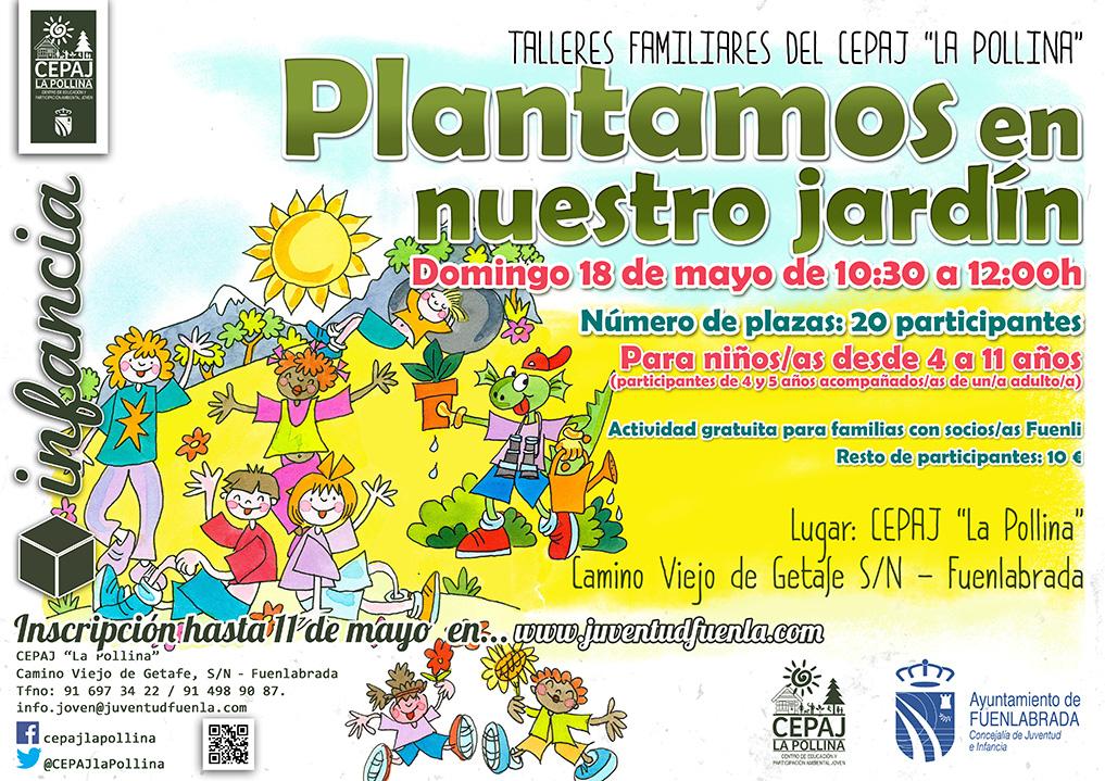 """Talleres familiares del CEPAJ """"La Pollina"""": Plantamos en nuestro jardín."""
