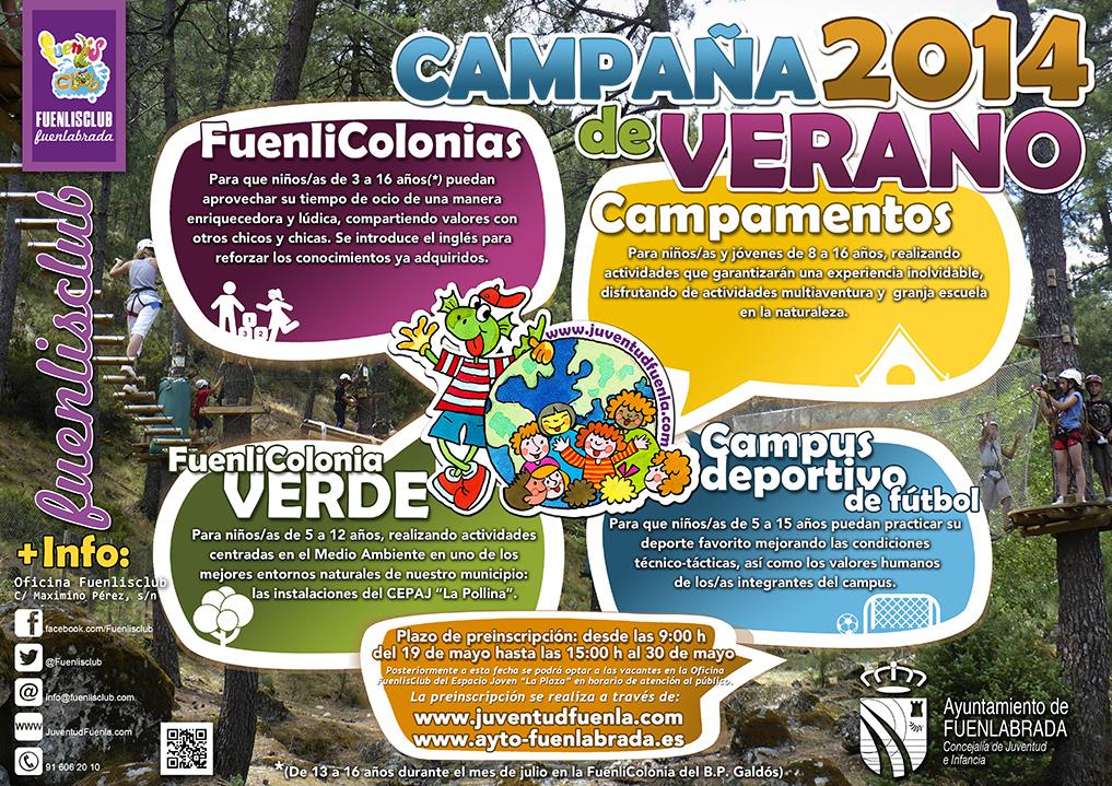 Oferta de actividades de verano de la Concejalía de Juventud e Infancia del Ayuntamiento de Fuenlabrada.