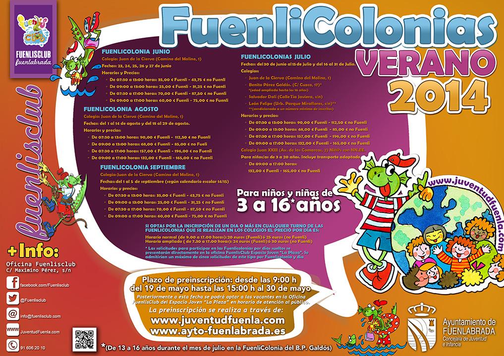 Fuenlicolonias 2014 de la Concejalía de Juventud e Infancia del Ayuntamiento de Fuenlabrada