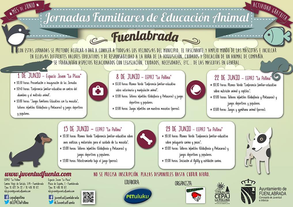 """Disfruta durante el mes de junio de estas """"Jornadas Familires de Educación Animal"""" de forma gratuita."""