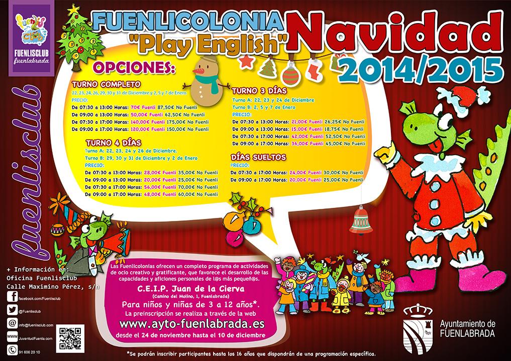 """Funelicolonia de Navidad """"Play English"""" 2014-2015"""