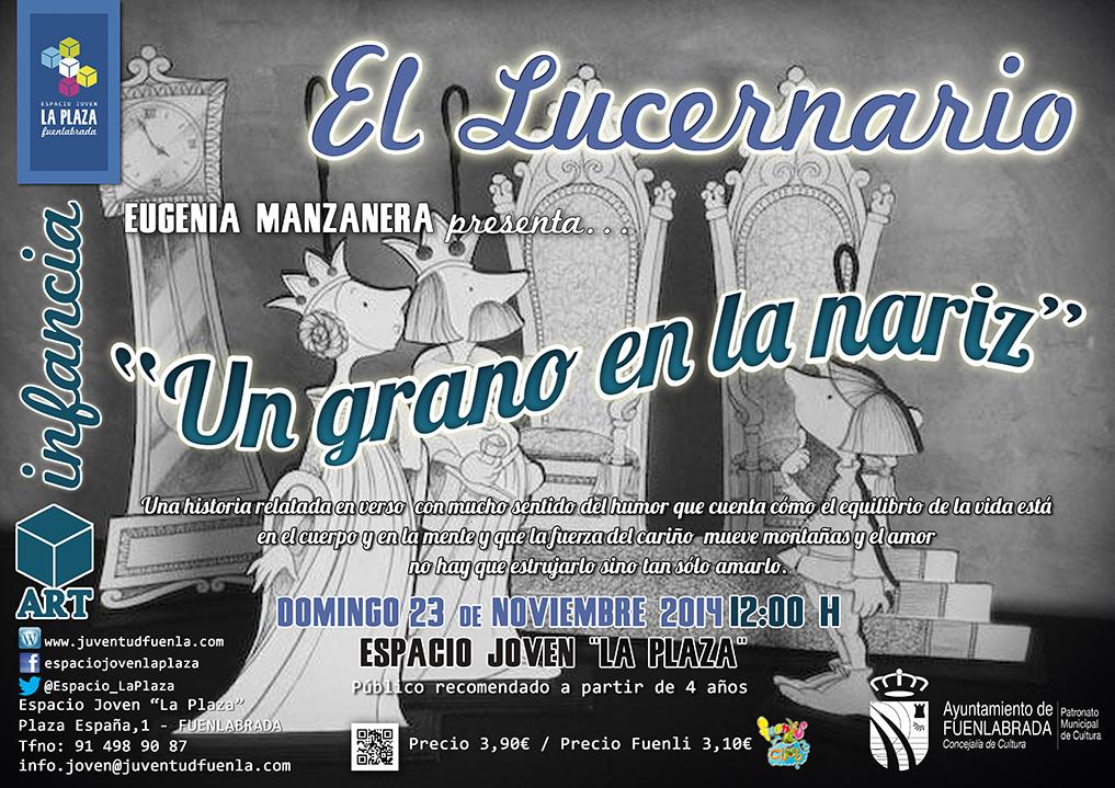 """La dramaturga Eugenia Manzanera nos presenta su espectáculo """"Un grano en la nariz"""". En el Espacio Joven La Plaza."""