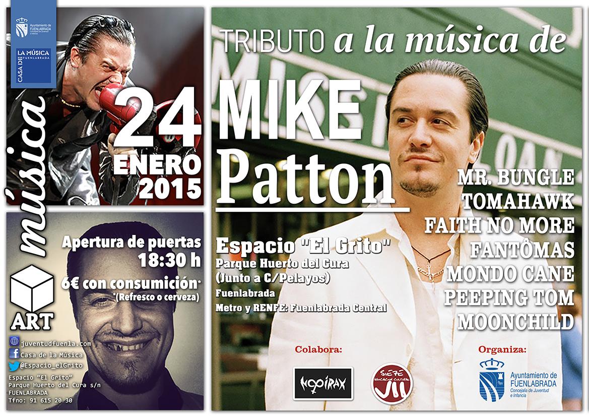 """Diversas bandas homenajean a Mike Patton en el Espacio """"El Grito"""" de Fuenlabrada"""